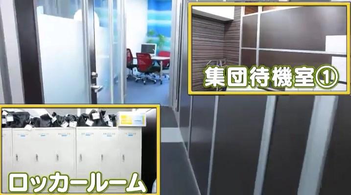 集団待機室とロッカールーム